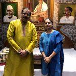 With Pandit Ajay Chakraborty at SrutiNandan