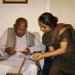 With Swar Samrat Ustad Ali Akbar Khan at AACM, San Rafael, USA, 2006