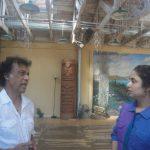 With Pandit Chitresh Das at Berkeley, California