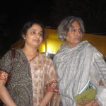 With Jogen Chowdhury, the celebrated painter and Member of Parliament
