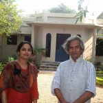 With our JogenDa ( Painter and M.P. Shri Jogen Chowdhury )